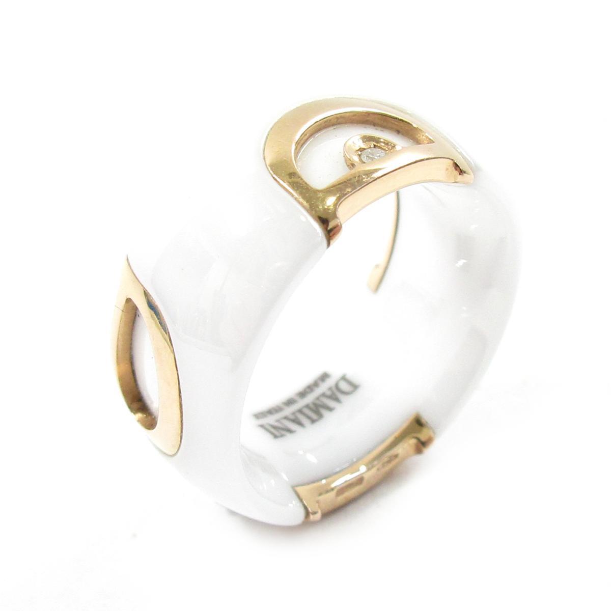 【中古】 ダミアーニ D.iconリング 指輪 レディース K18PG (750) ピンクゴールド x セラミック ダイヤモンド ホワート ピンクゴ-ルド | DAMIANI BRANDOFF ブランドオフ ブランド ジュエリー アクセサリー リング