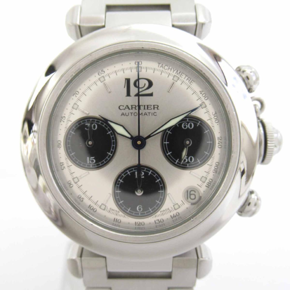 【中古】 カルティエ パシャ クロノ ウォッチ 腕時計 メンズ ステンレススチール (SS) (W31048M7) | Cartier BRANDOFF ブランドオフ ブランド ブランド時計 ブランド腕時計 時計