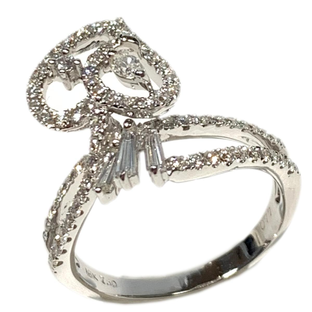 【中古】 ジュエリー ダイヤモンド リング 指輪 レディース 18K750 x 0.77ct シルバー | JEWELRY BRANDOFF ブランドオフ ブランド アクセサリー