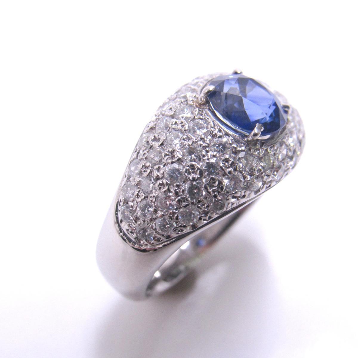 【中古】 ジュエリー リング 指輪 レディース PT900 プラチナ x サファイア (1.43ct) ダイヤモンド (1.26ct) ブルー | JEWELRY BRANDOFF ブランドオフ ブランド アクセサリー