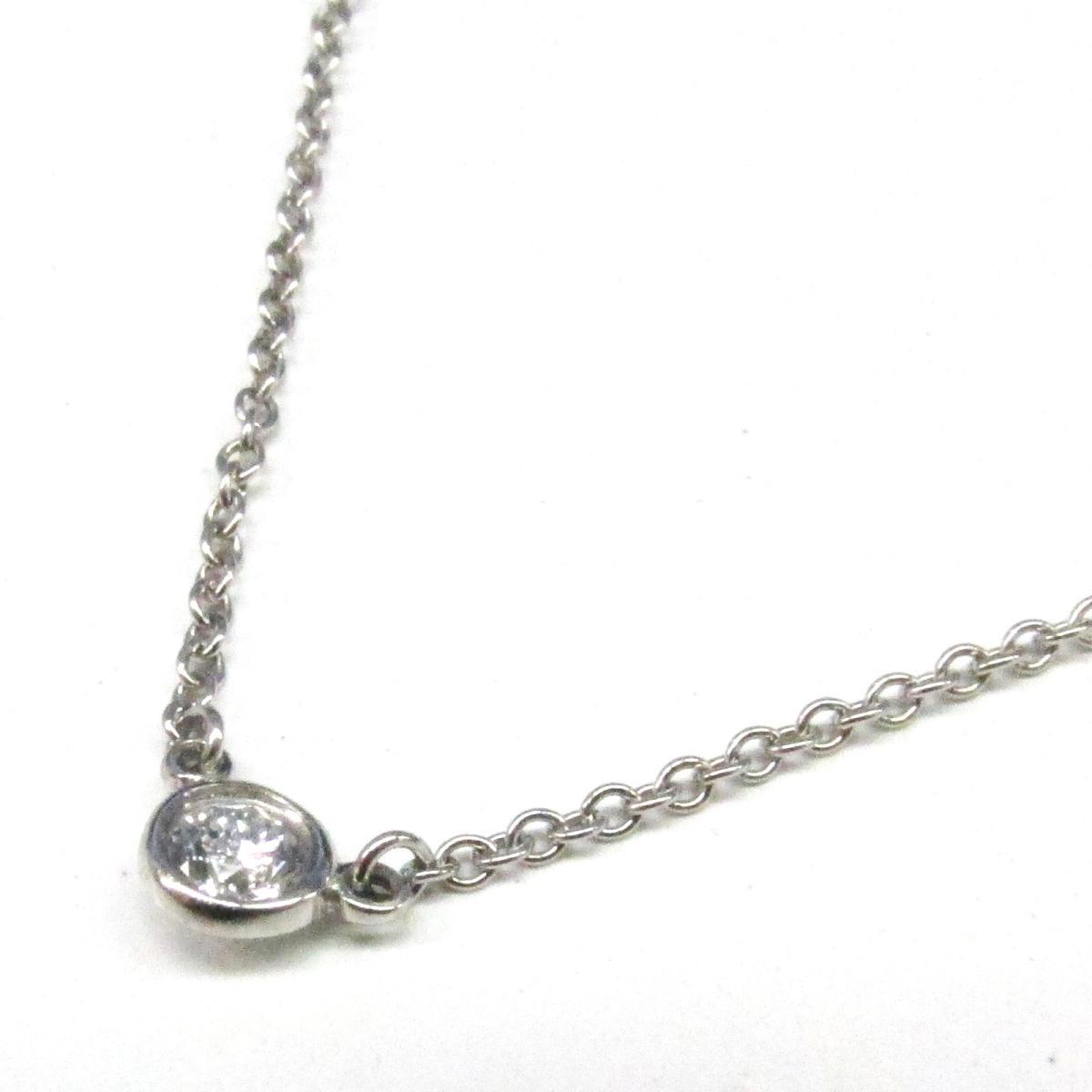 【中古】 ティファニー バイザヤード 1P ダイヤモンド ネックレス ペンダント レディース PT950 プラチナ x | TIFFANY&CO BRANDOFF ブランドオフ ブランド アクセサリー