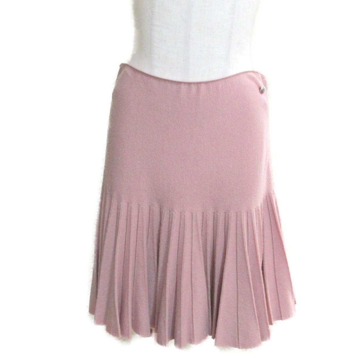 【中古】 シャネル スカート レディース 90%ウール 10%カシミア ピンク (P47177K05960) | CHANEL BRANDOFF ブランドオフ 衣料品 衣類 ブランド ボトムス