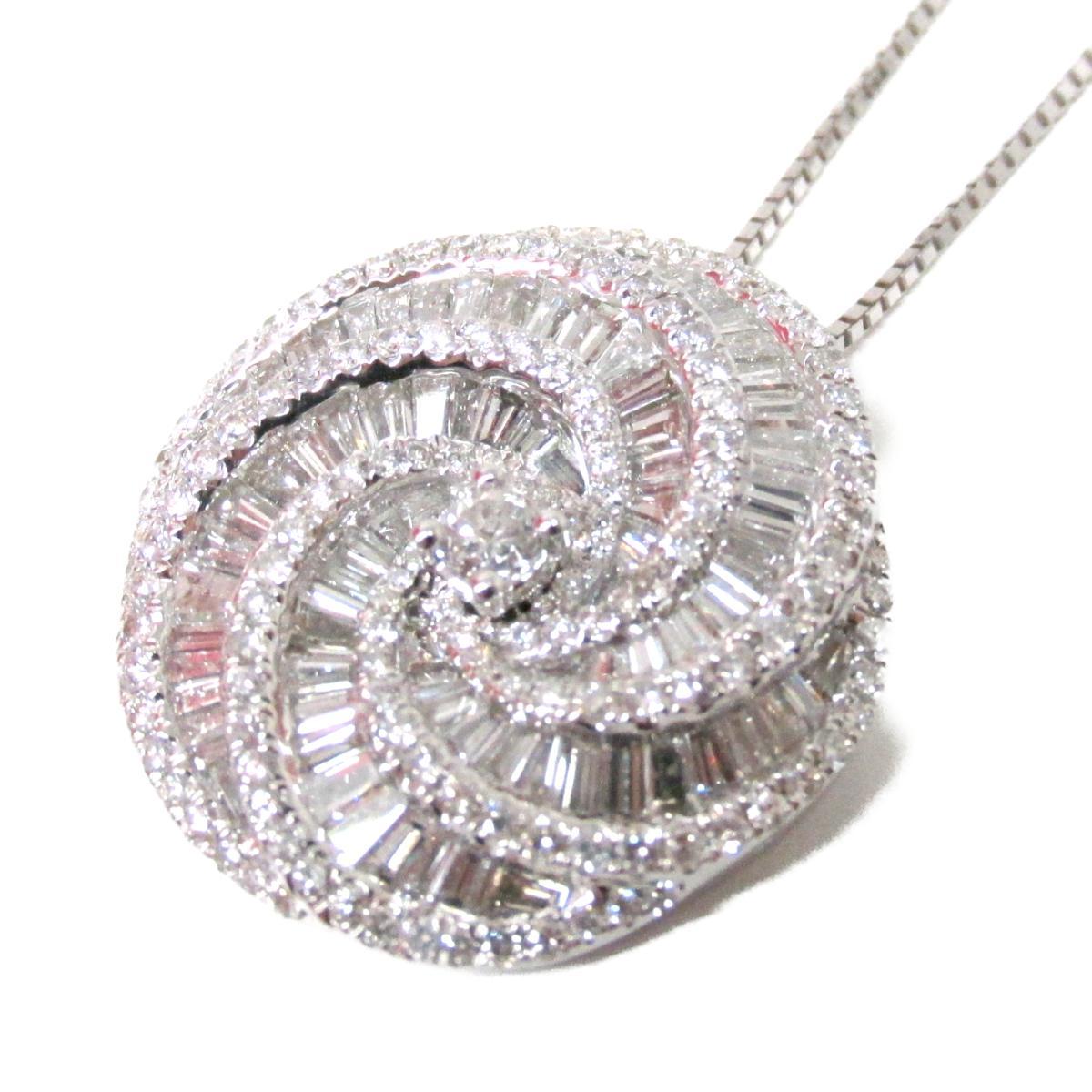 【中古】ジュエリー ダイヤモンド ネックレス レディース K18WG (750) ホワイトゴールド x (2.07ct)   JEWELRY BRANDOFF ブランドオフ ブランド アクセサリー ペンダント