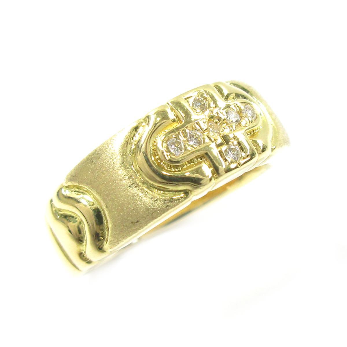 【中古】 ジュエリー ダイヤモンドリング 指輪 レディース K18YG (750) イエローゴールド x ダイヤモンド0.06ct ゴールド クリアー | JEWELRY BRANDOFF ブランドオフ ブランド ジュエリー アクセサリー リング
