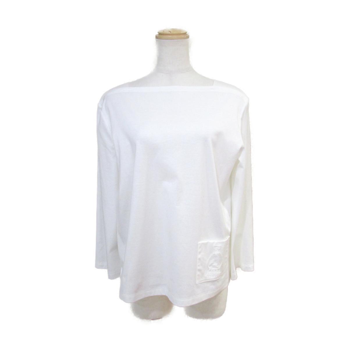 【中古】 エルメス 七分袖 Tシャツ レディース コットン100% ホワイト | HERMES BRANDOFF ブランドオフ 衣料品 衣類 ブランド トップス シャツ カットソー