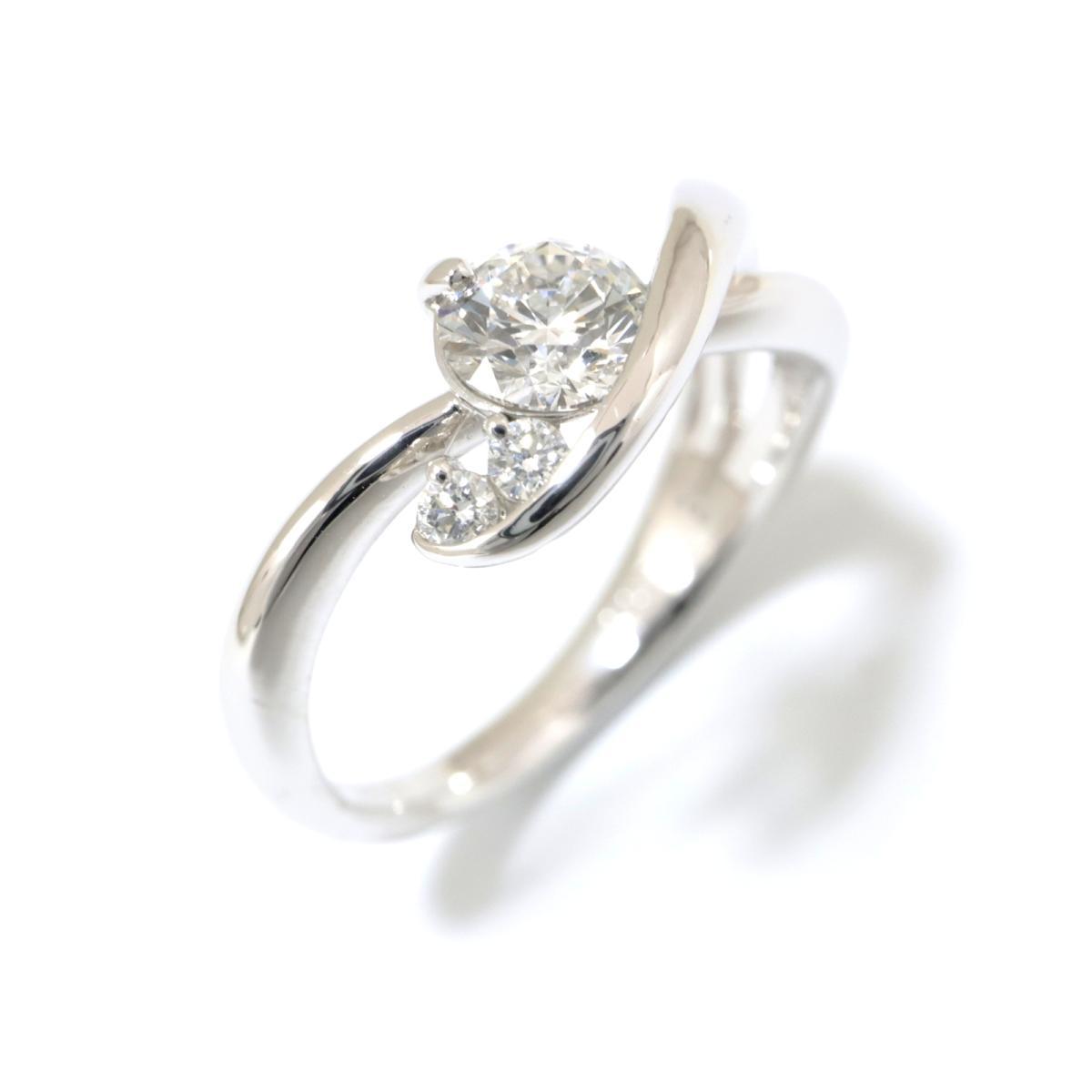 【中古】 ジュエリー ダイヤモンド リング 指輪 レディース PT900 プラチナ x (0.411ct/0.05ct) クリアー シルバー | JEWELRY BRANDOFF ブランドオフ ブランド ジュエリー アクセサリー