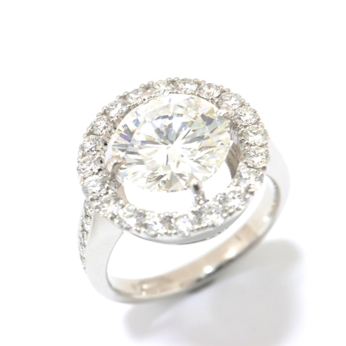 【中古】 ジュエリー ダイヤモンド リング 指輪 レディース PT900 プラチナ x (2.506ct/0.74ct) クリアー シルバー   JEWELRY BRANDOFF ブランドオフ ブランド ジュエリー アクセサリー