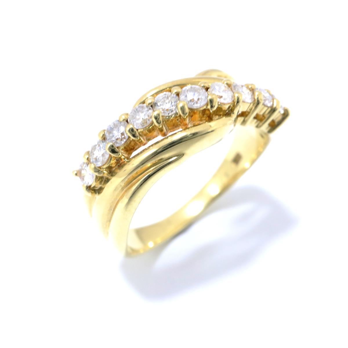 【中古】ジュエリー ダイヤモンド リング 指輪 レディース K18YG (750) イエローゴールド x (0.50ct) クリアー ゴールド | JEWELRY BRANDOFF ブランドオフ ブランド ジュエリー アクセサリー