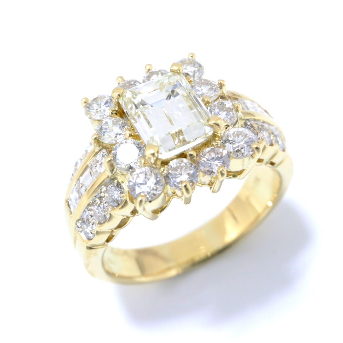 【中古】 ジュエリー ダイヤモンド リング 指輪 レディース K18YG (750) イエローゴールド x (2.009ct/2.04ct) クリアー ゴールド | JEWELRY BRANDOFF ブランドオフ ブランド ジュエリー アクセサリー