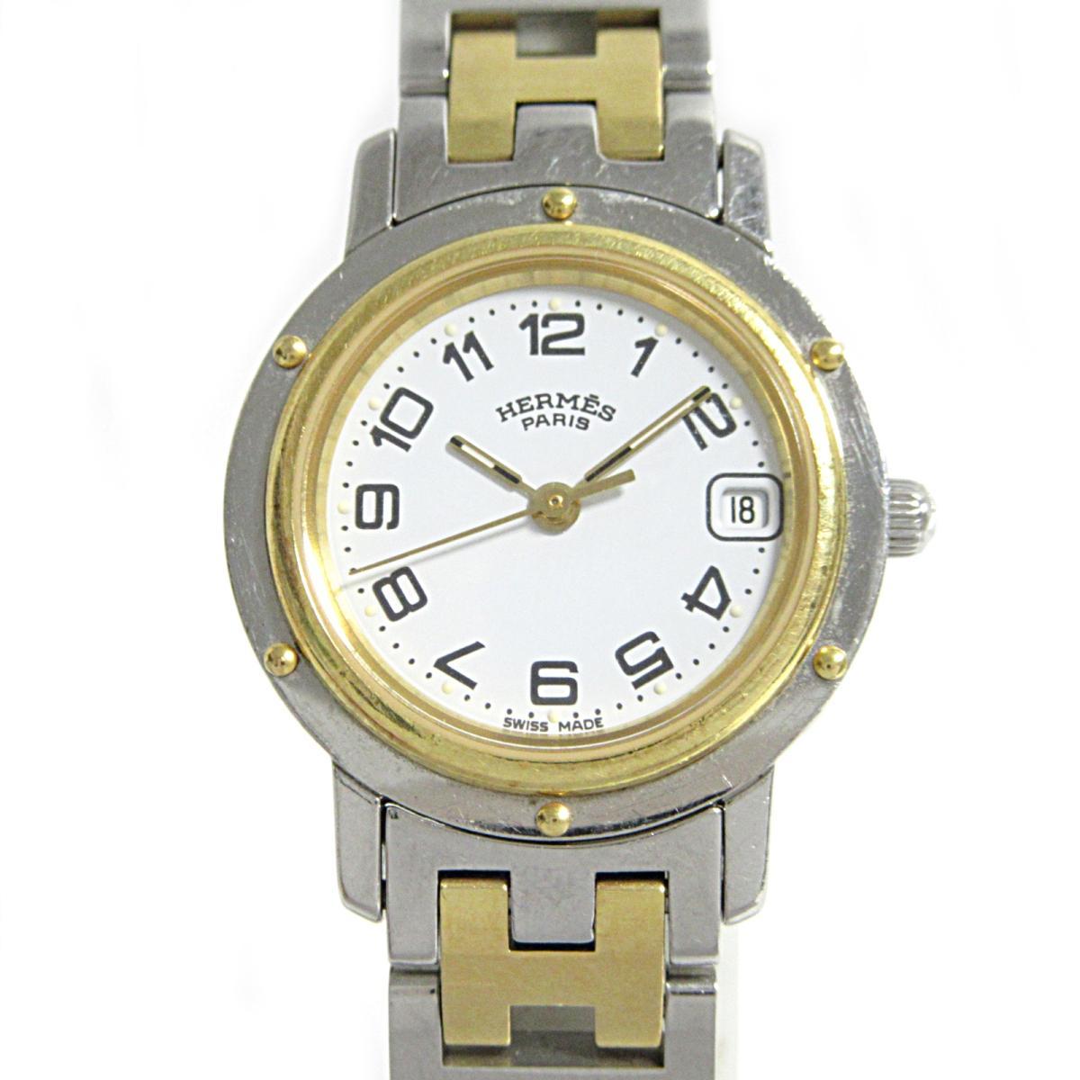 ≪期間限定≫メルマガ登録でクーポンGET! 【中古】 エルメス クリッパー 腕時計 ウォッチ レディース ステンレススチール (SS) GP (CL4.220)   HERMES BRANDOFF ブランドオフ ブランド ブランド時計 ブランド腕時計 時計
