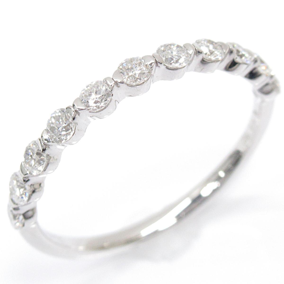 【中古】ジュエリー ダイヤモンドリング 指輪 レディース K18WG (750) ホワイトゴールド x ダイヤモンド (0.33ct)   JEWELRY BRANDOFF ブランドオフ ブランド ジュエリー アクセサリー リング