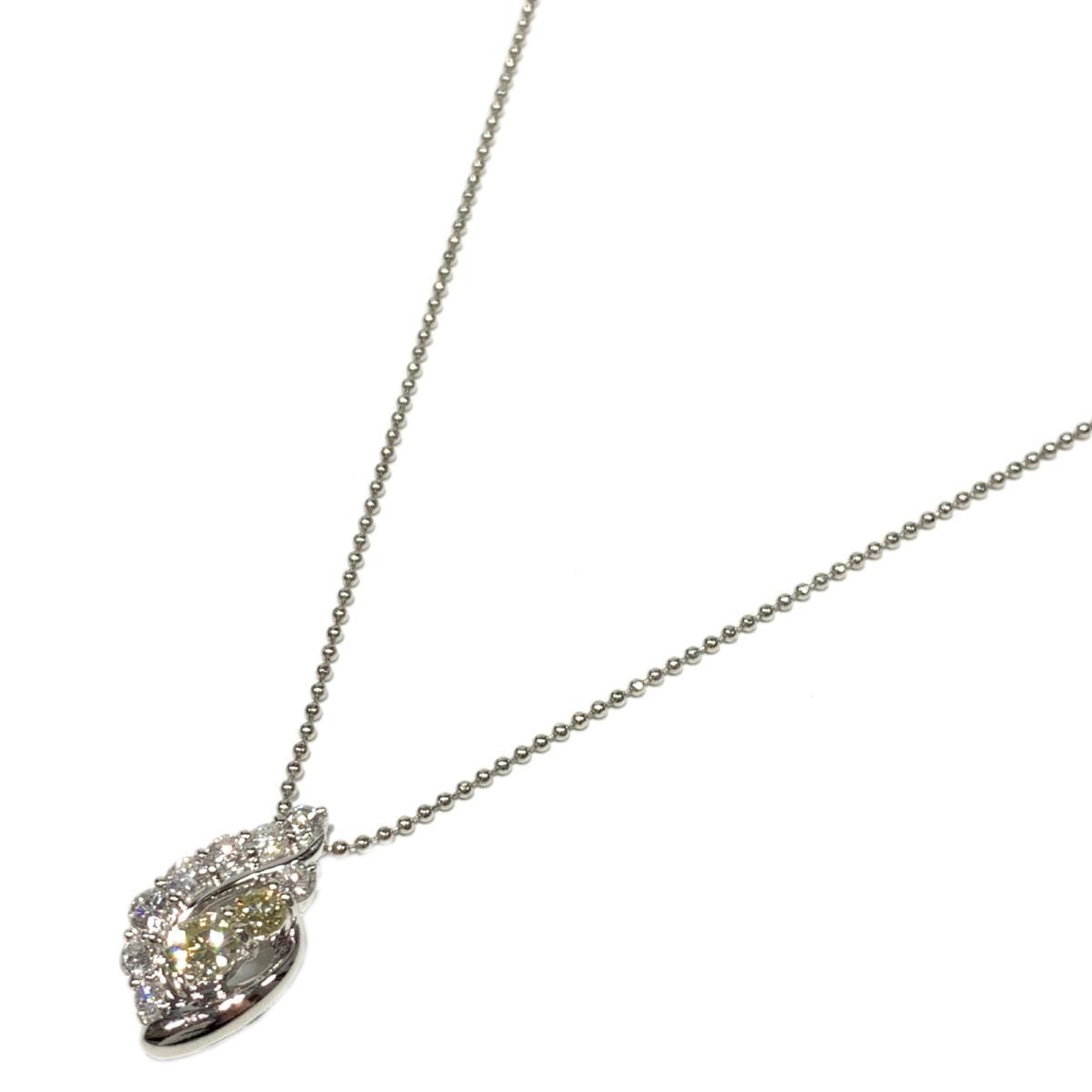 【中古】ジュエリー ダイヤモンド ネックレス レディース PT900 プラチナ x PT850 1.00ct シルバー   JEWELRY BRANDOFF ブランドオフ ブランド アクセサリー ペンダント