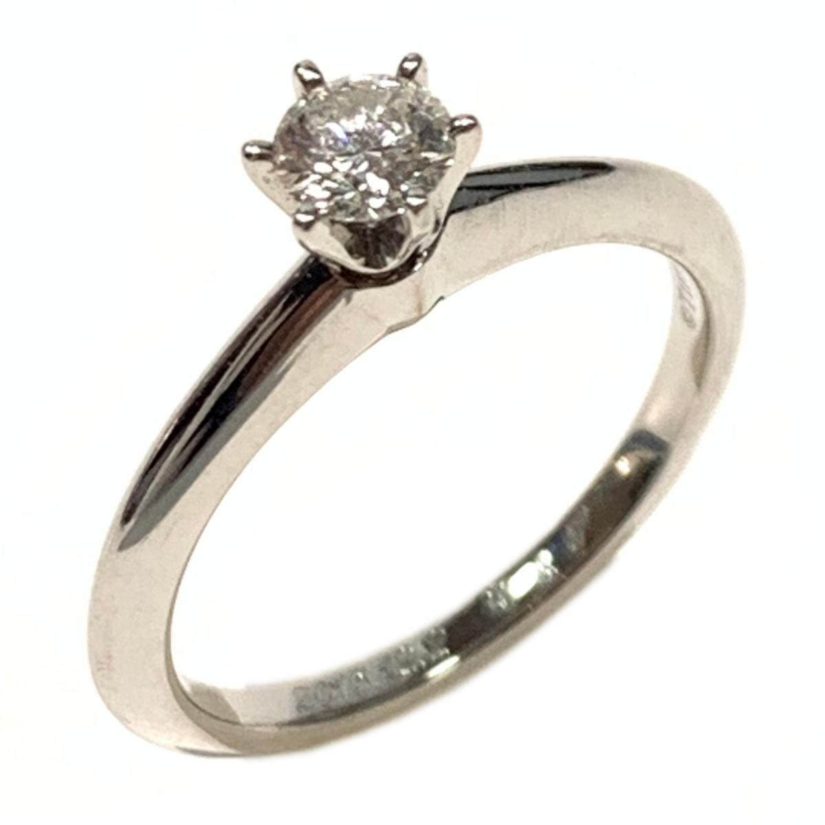 【中古】ティファニー ダイヤモンド リング 指輪 レディース PT950 プラチナ x ダイヤモンド0.23ct クリアー シルバー | TIFFANY&CO BRANDOFF ブランドオフ ブランド ジュエリー アクセサリー