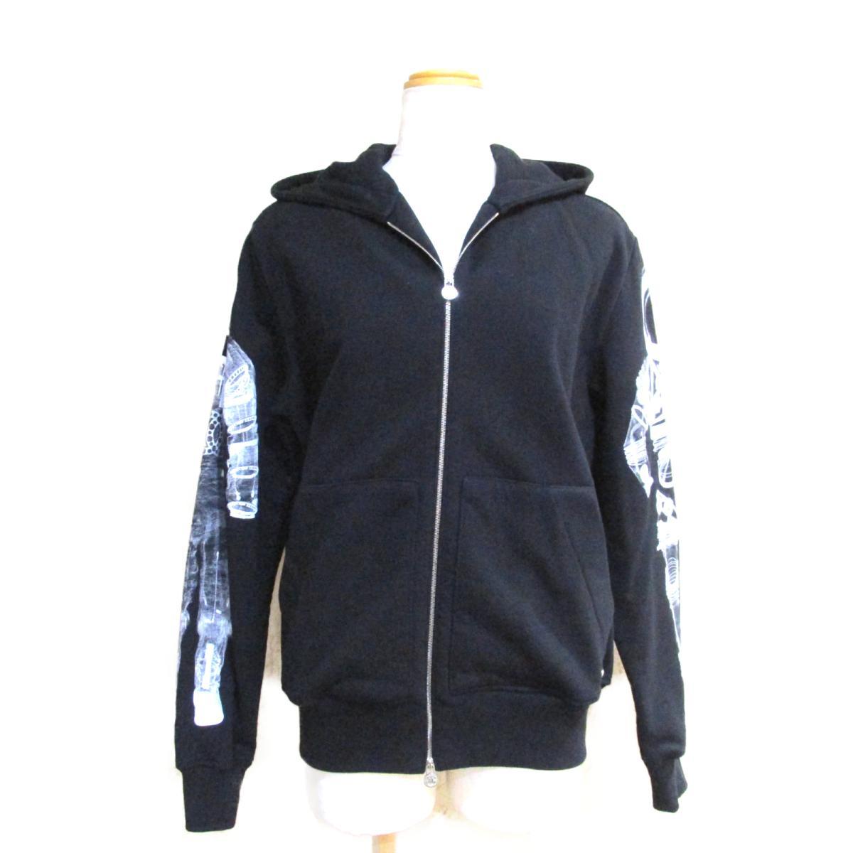 【中古】シャネル パーカー レディース コットン100% ブラック x ホワイト (P5746K07601) | CHANEL BRANDOFF ブランドオフ 衣料品 衣類 ブランド トップス