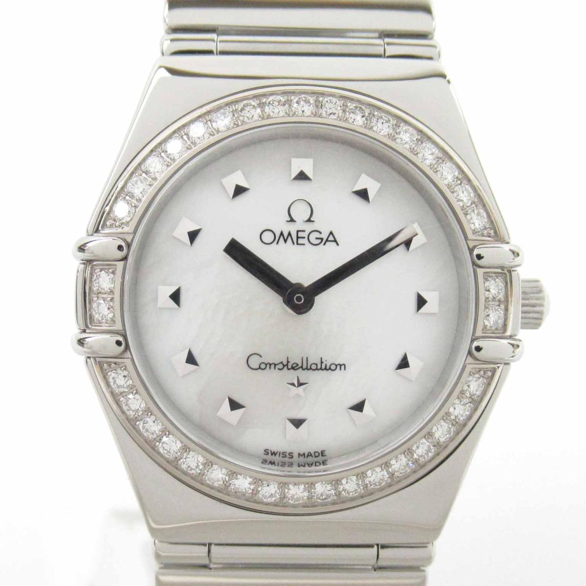 【中古】 オメガ コンステレーション ダイヤベゼル マイチョイス ウォッチ 腕時計 レディース ステンレススチール (SS) | OMEGA BRANDOFF ブランドオフ ブランド ブランド時計 ブランド腕時計 時計