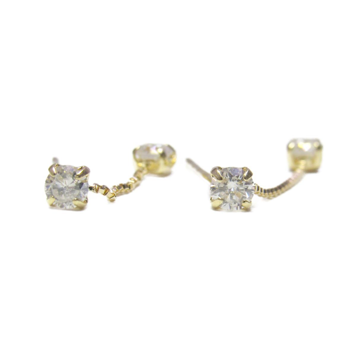 【中古】 ジュエリー ダイヤモンド ピアス レディース K18YG (750) イエローゴールド x (0.15ct 2) | JEWELRY BRANDOFF ブランドオフ ブランド アクセサリー