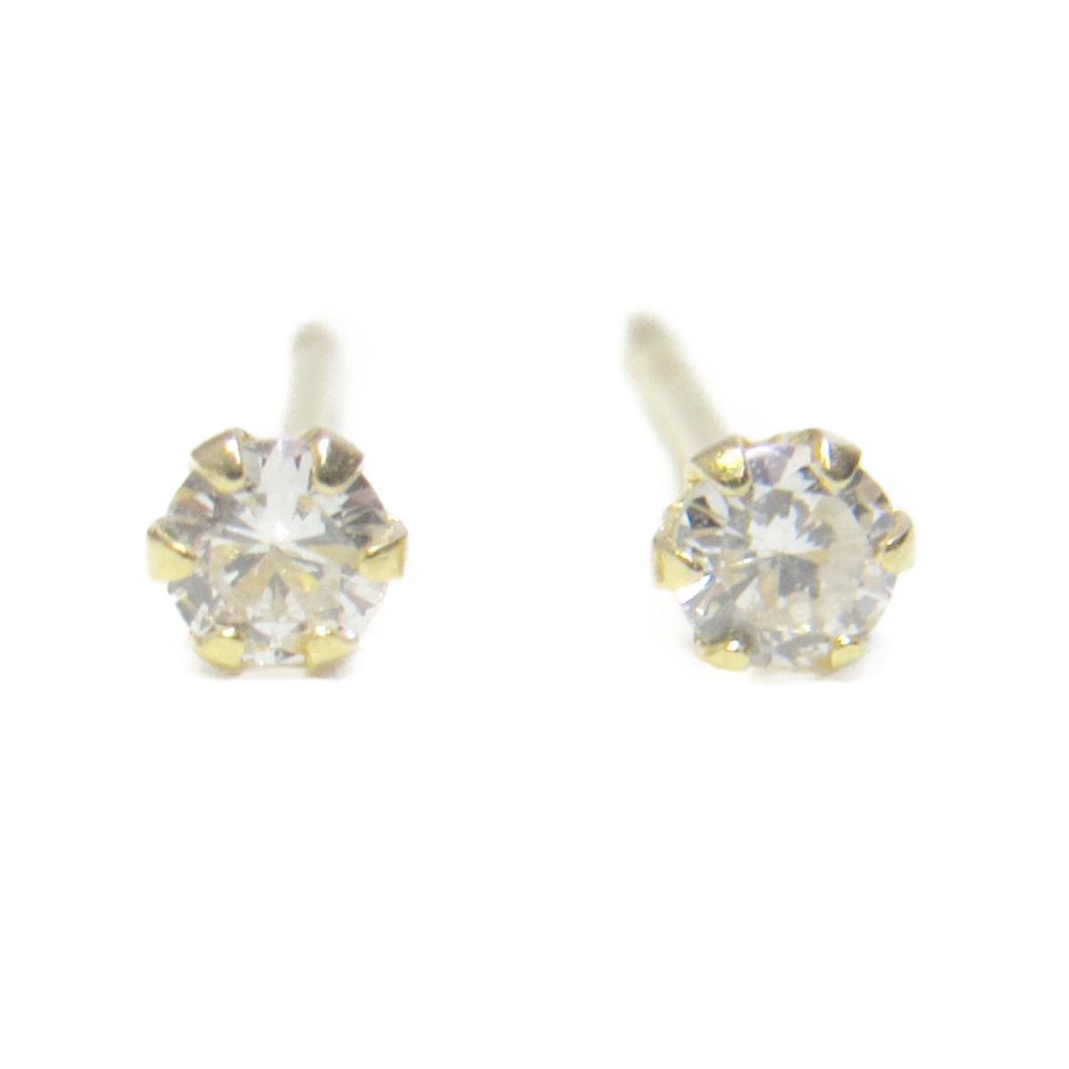 【中古】 ジュエリー ダイヤモンド ピアス レディース K18YG (750) イエローゴールド x ダイヤモンド0.05ct 2 | JEWELRY BRANDOFF ブランドオフ ブランド アクセサリー