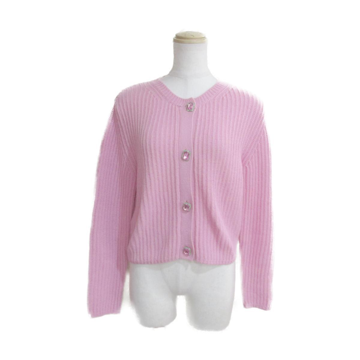 【中古】 ミュウミュウ カーディガン ビジューボタン レディース カシミア100% ピンク | miu BRANDOFF ブランドオフ 衣料品 衣類 ブランド トップス ボレロ