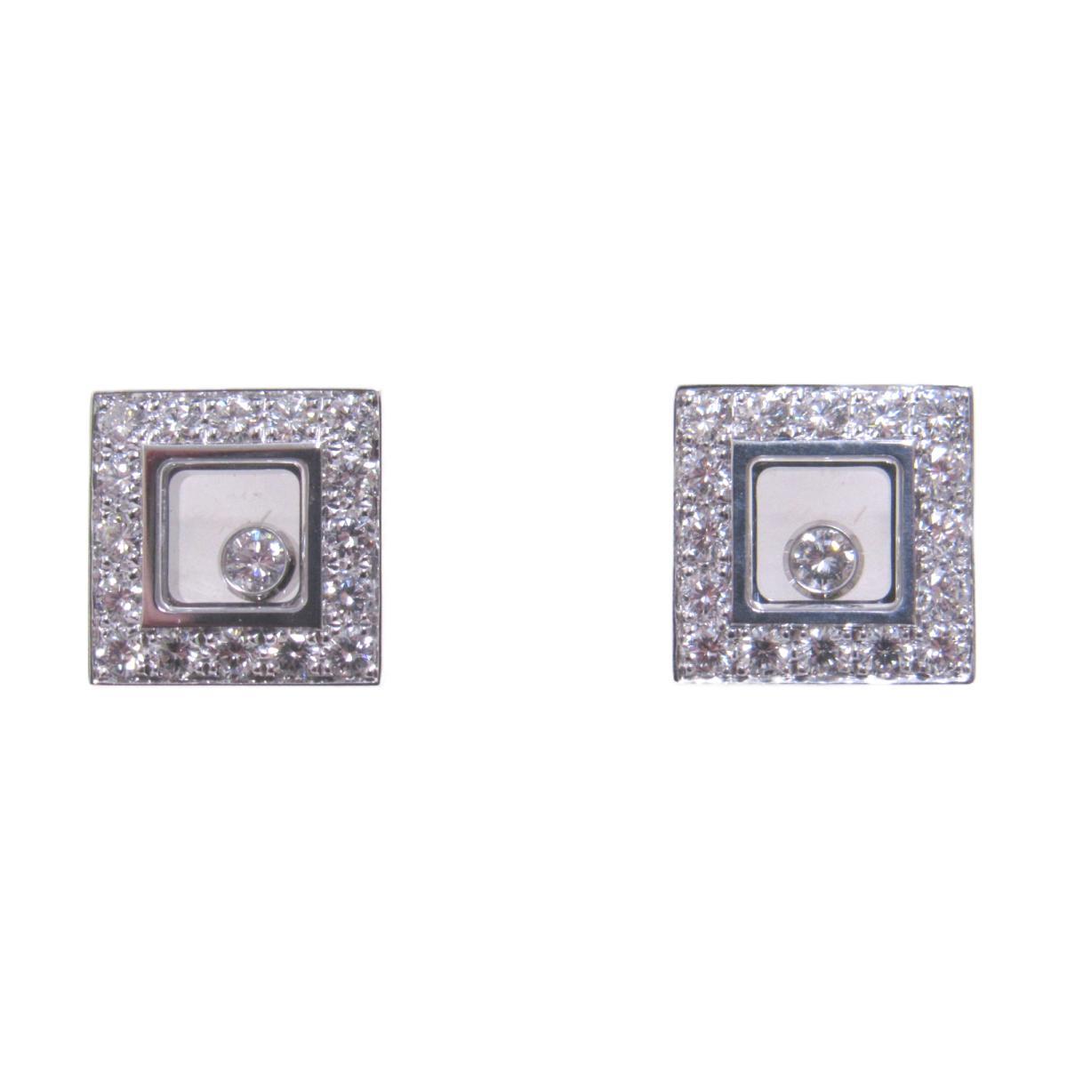 【中古】 ショパール ハッピーダイヤモンド ピアス レディース K18WG (750) ホワイトゴールド (83-2896-20)   Chopard BRANDOFF ブランドオフ ブランド アクセサリー