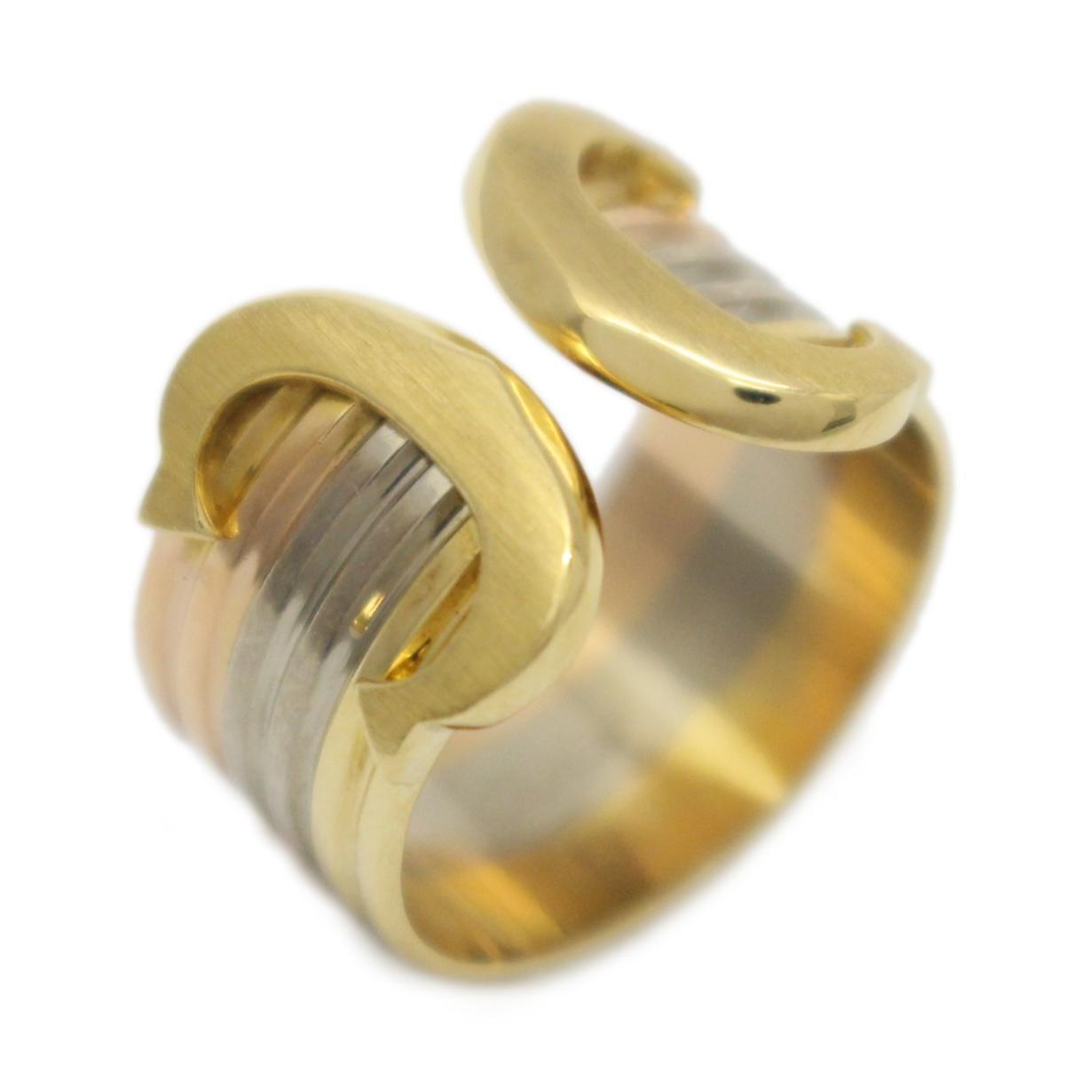 【中古】 カルティエ C2 トリニティ リング 指輪 レディース K18YG (750) イエローゴールド × K18WG ホワイトゴールド K18PG ピンクゴールド K18スリーゴールド   Cartier BRANDOFF ブランドオフ ブランド ジュエリー アクセサリー