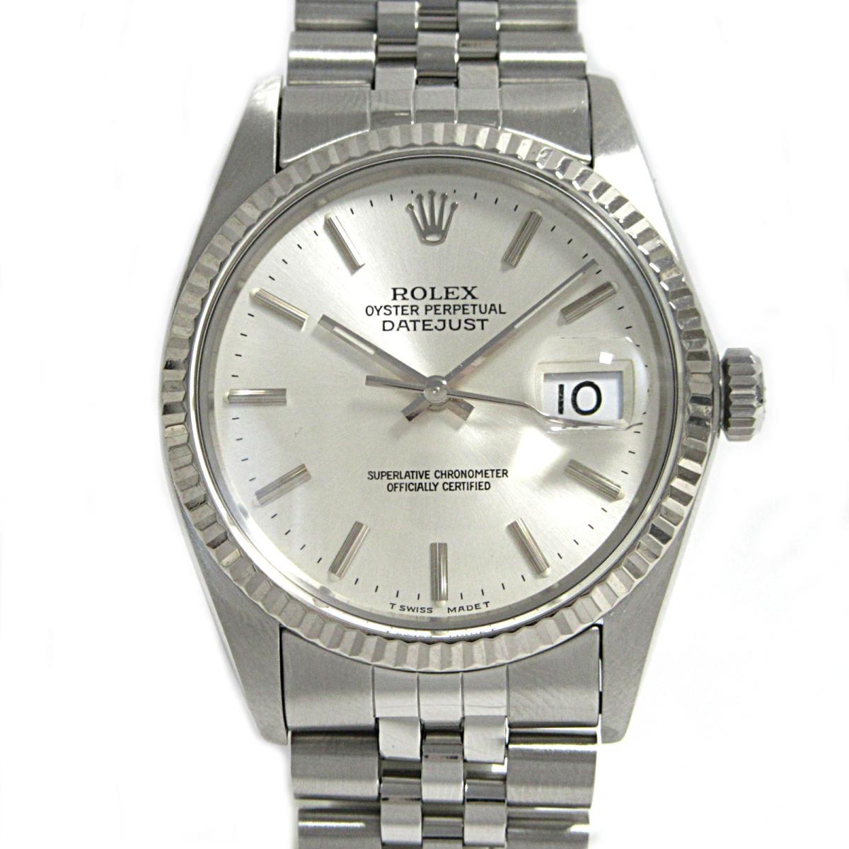 ≪期間限定≫メルマガ登録でクーポンGET! 【中古】 ロレックス デイトジャスト 腕時計 ウォッチ メンズ ステンレススチール (SS) × K18WG (750) ホワイトゴールド (16014) | ROLEX BRANDOFF ブランドオフ ブランド ブランド時計 ブランド腕時計 時計