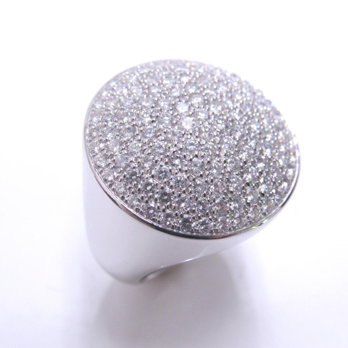 【中古】 カルティエ ジュトンリング ジュエリー 指輪 レディース K18WG (750) ホワイトゴールド × ダイヤモンド シルバー | Cartier BRANDOFF ブランドオフ ブランド アクセサリー リング