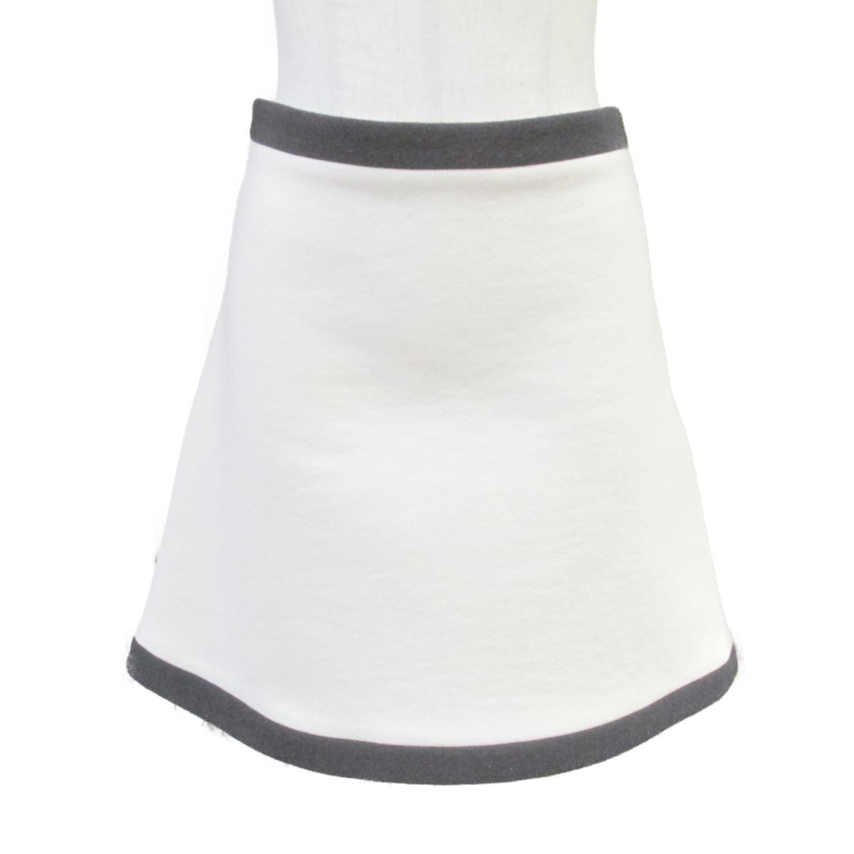 【中古】 ミュウミュウ 2018 スカート レディース ウール100% アイボリー × ブラック | miu BRANDOFF ブランドオフ 衣料品 衣類 ブランド ボトムス