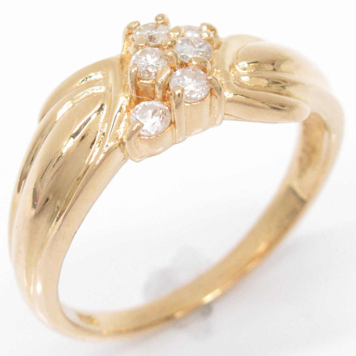 【中古】 ジュエリー ダイヤモンド リング 指輪 レディース K18YG (750) イエローゴールドxダイヤモンド0.173ct ゴールド | JEWELRY BRANDOFF ブランドオフ ブランド アクセサリー