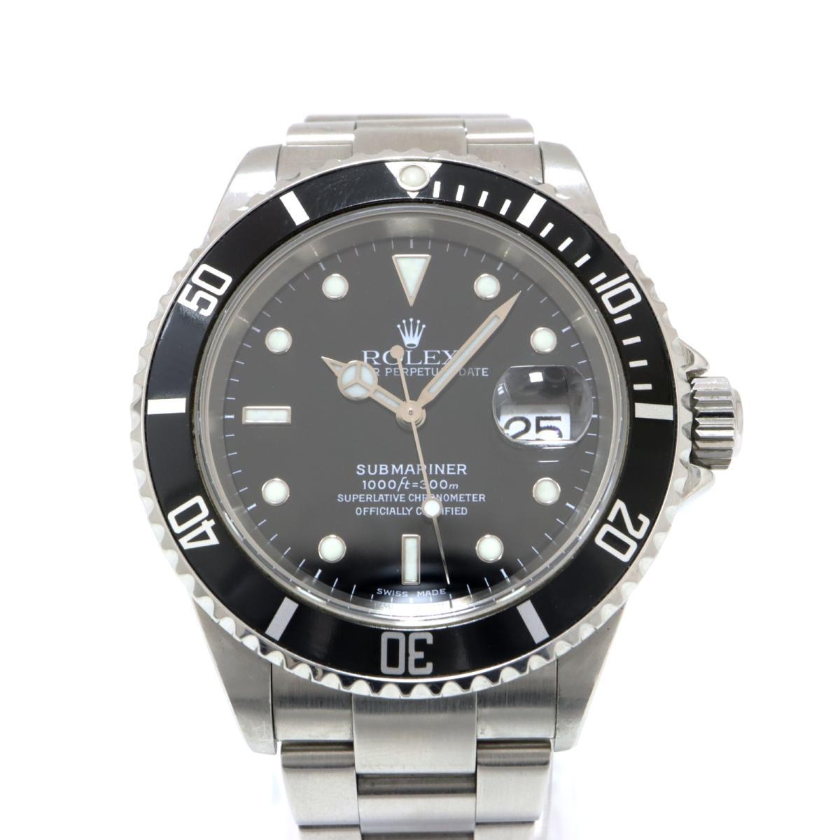 【中古】 ロレックス サブマリーナ 腕時計 メンズ ステンレススチール (SS) シルバー (16610) | ROLEX BRANDOFF ブランドオフ ブランド ブランド時計 ブランド腕時計 時計 ウォッチ