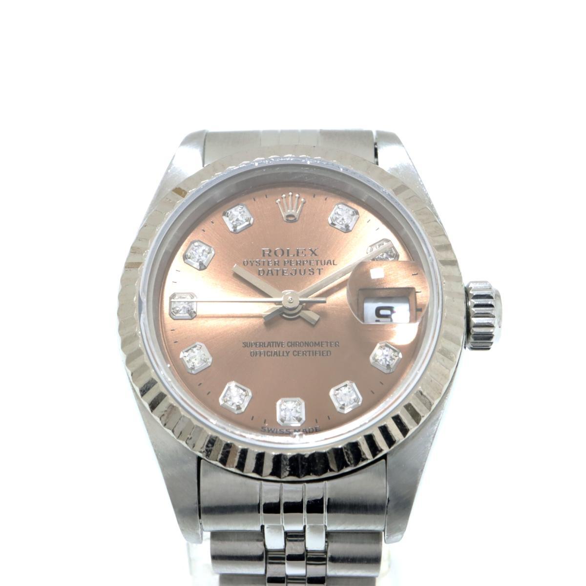 【中古】 ロレックス デイトジャスト レディ 10Pダイヤ 新J 新P 腕時計 レディース K18WG (750) ホワイトゴールド SS ダイヤモンド シルバー (69174G) | ROLEX BRANDOFF ブランドオフ ブランド ブランド時計 ブランド腕時計 時計