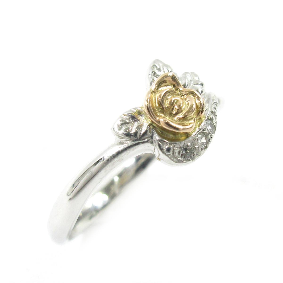 【中古】 ジュエリー ダイヤモンドリング 指輪 レディース PT900 プラチナ X K18 (イエローゴールド) ダイヤモンド0.03ct シルバー ゴールド | JEWELRY BRANDOFF ブランドオフ ブランド アクセサリー リング