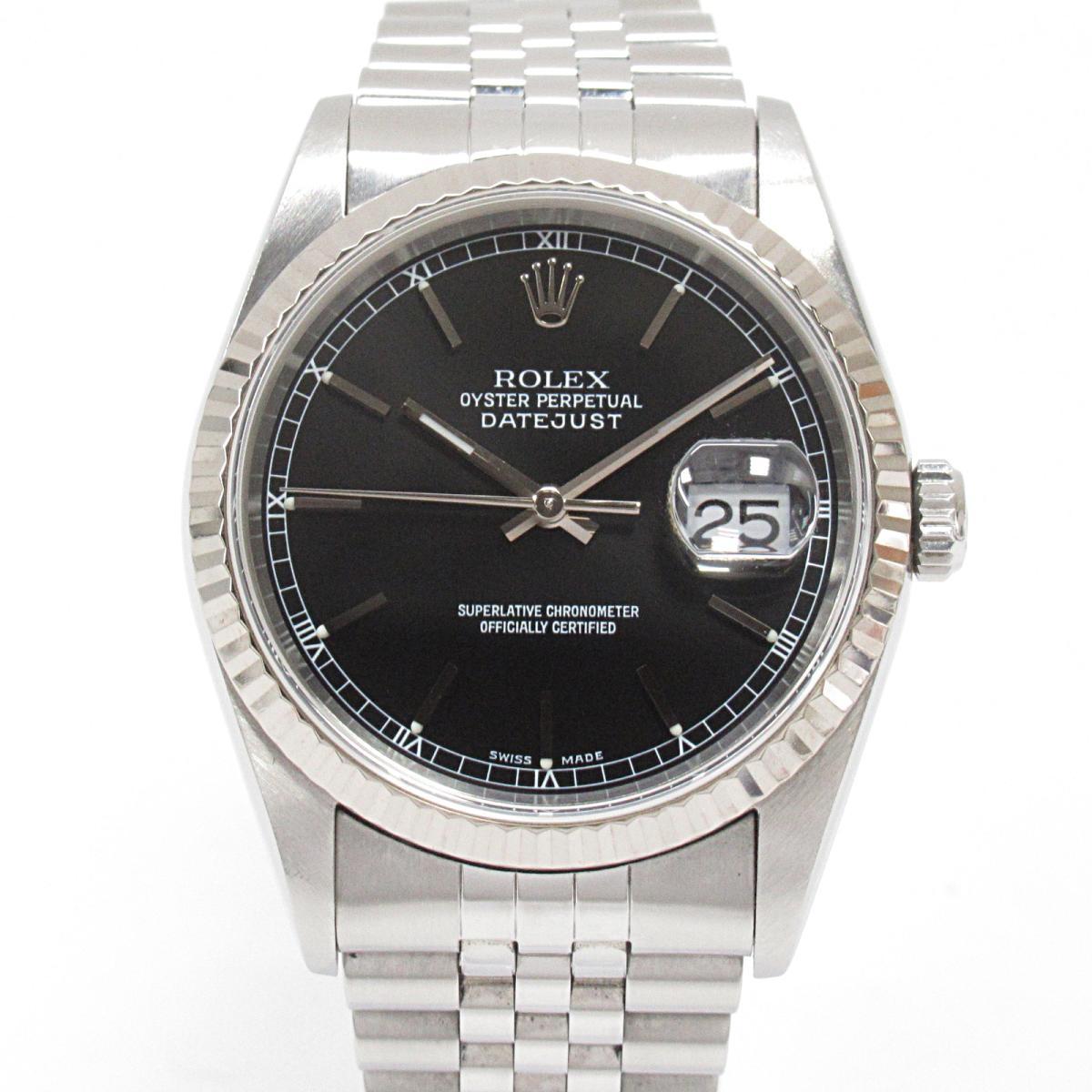 【中古】 ロレックス デイトジャスト 腕時計 ウォッチ メンズ ステンレススチール (SS) K18WG (ホワイトゴールド) (16234) | ROLEX BRANDOFF ブランドオフ ブランド ブランド時計 ブランド腕時計 時計