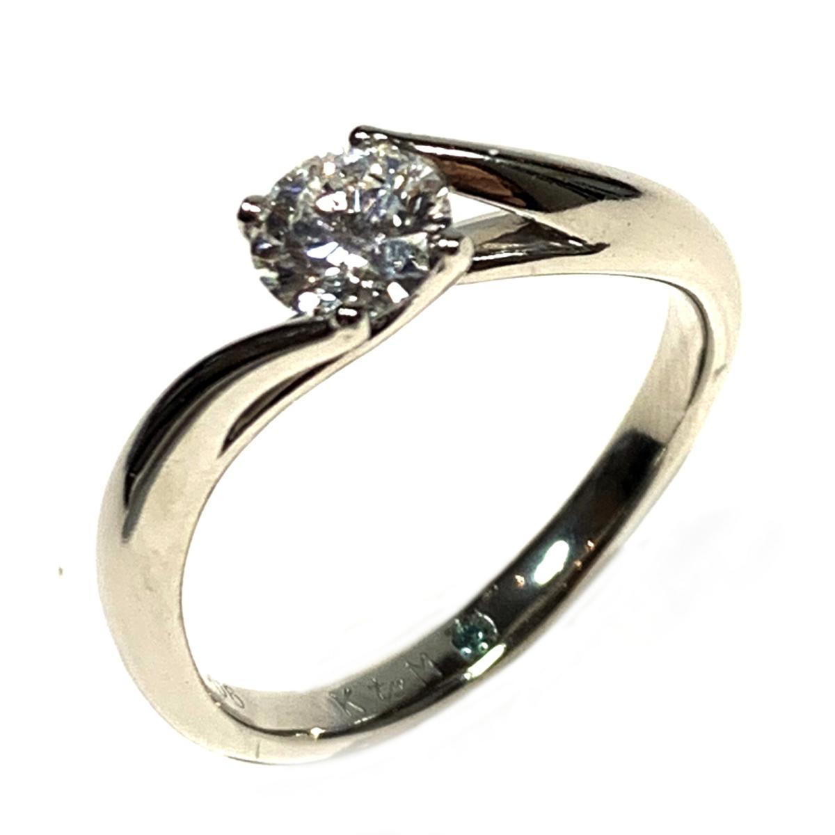 【中古】 ジュエリー ダイヤモンド リング 指輪 レディース PT900 プラチナ x 0.506ct シルバー | JEWELRY BRANDOFF ブランドオフ ブランド アクセサリー