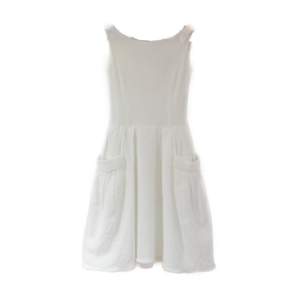 【中古】 フォクシー ワンピース メンズ レディース コットン100% ホワイト | FOXEY BRANDOFF ブランドオフ 衣料品 衣類 ブランド