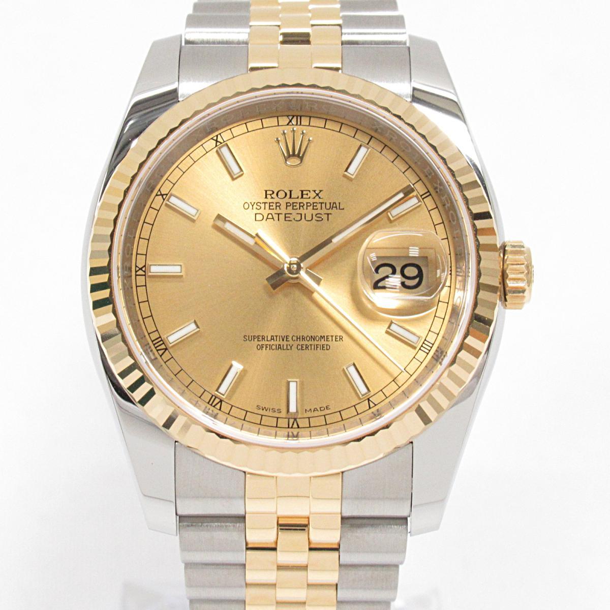 【中古】 ロレックス デイトジャスト 腕時計 ウォッチ メンズ ステンレススチール (SS) K18YG (イエローゴールド) (116233) | ROLEX BRANDOFF ブランドオフ ブランド ブランド時計 ブランド腕時計 時計