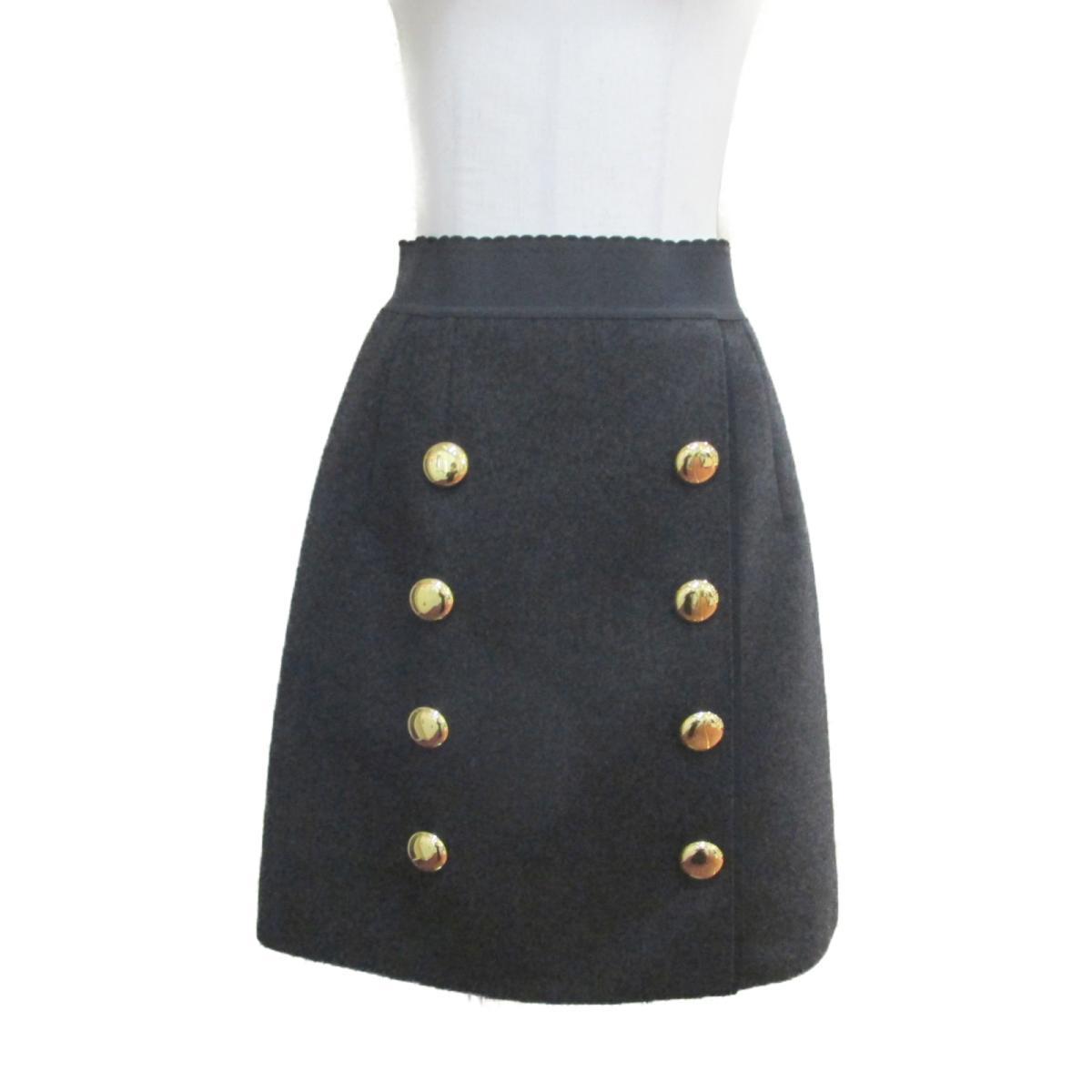 【中古】 ドルチェ&ガッバーナ スカート レディース ウール100% チャコールグレー | Dolce & Gabbana BRANDOFF ブランドオフ 衣料品 衣類 ブランド ボトムス