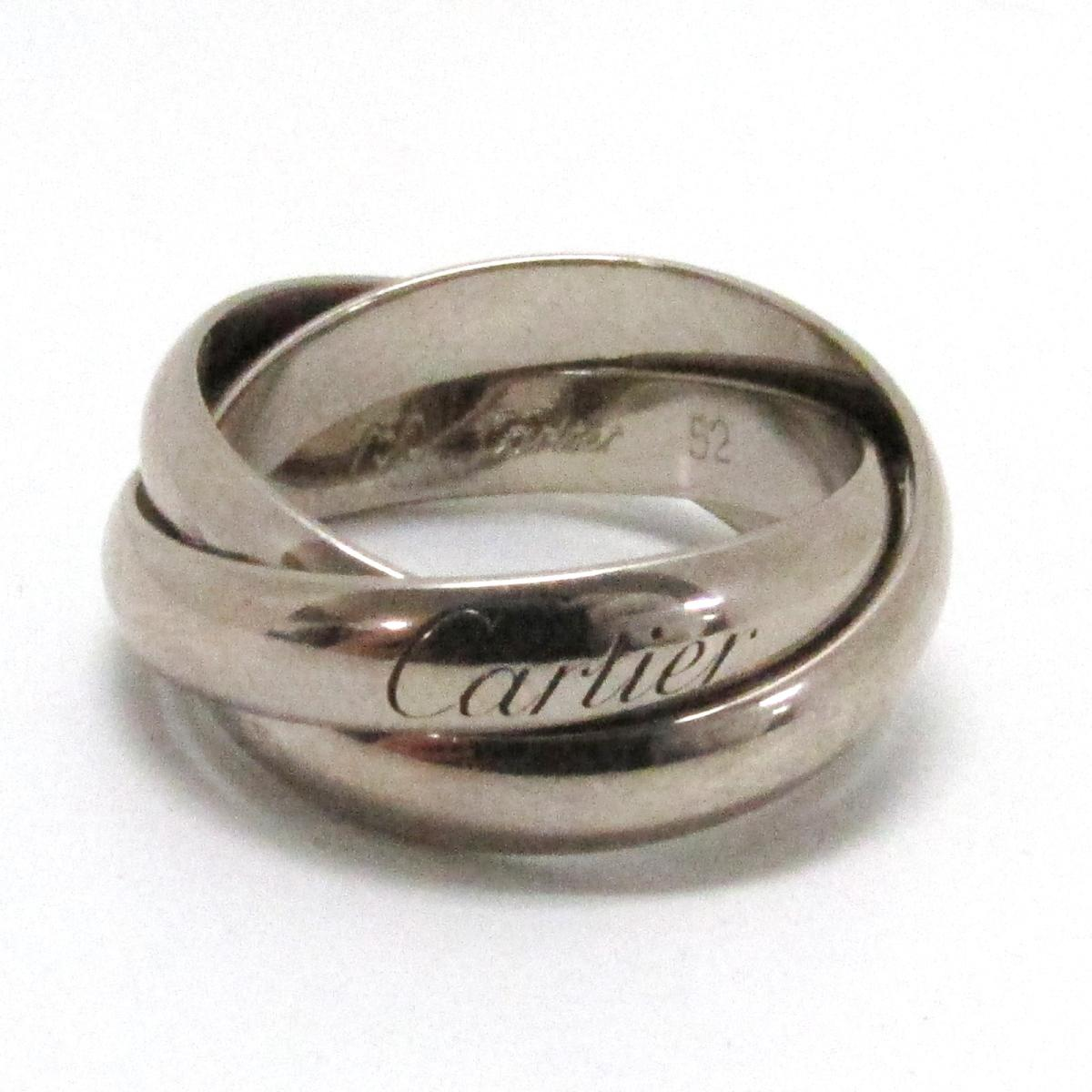 【中古】 カルティエ トリニティリング 指輪 レディース K18WG (750) ホワイトゴールド | Cartier BRANDOFF ブランドオフ ブランド ジュエリー アクセサリー リング
