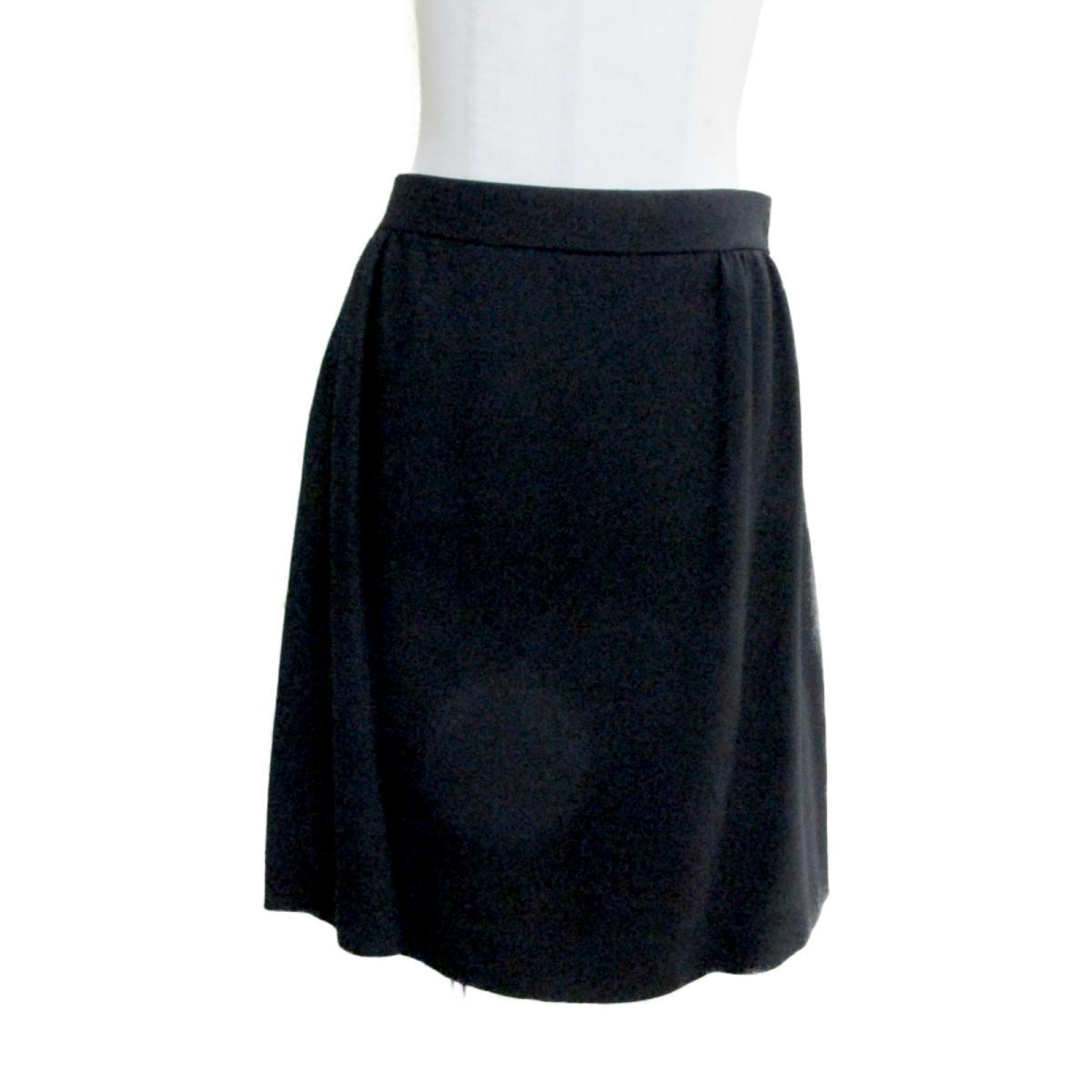 【中古】 ミュウミュウ スカート レディース 100%レーヨン ブラック | miu BRANDOFF ブランドオフ 衣料品 衣類 ブランド ボトムス