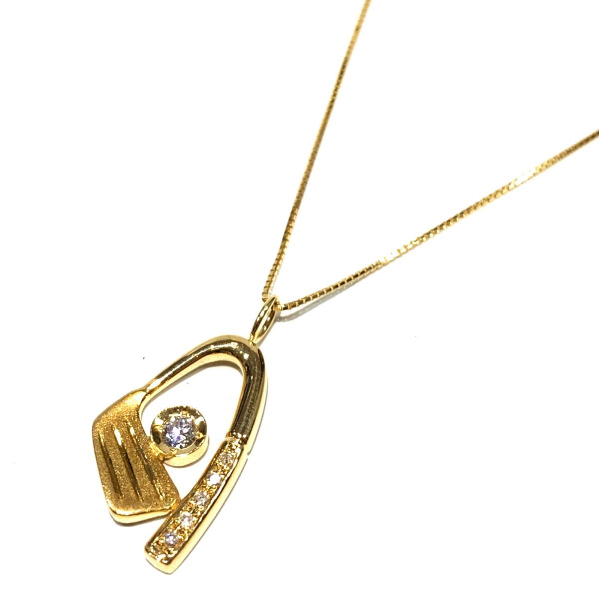 【中古】 ジュエリー ダイヤモンド ネックレス レディース K18YG (750) イエローゴールド x 0.15ct ゴールド | JEWELRY BRANDOFF ブランドオフ アクセサリー ペンダント