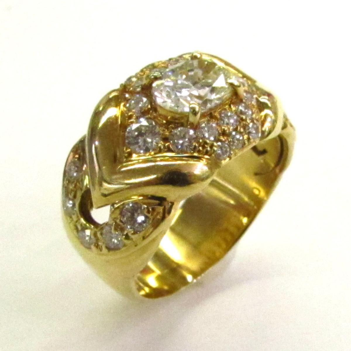 【中古】 ジュエリー ダイヤモンドリング レディース K18YG (750) イエローゴールド × ダイヤモンド (0.902/0.81ct) | JEWELRY BRANDOFF ブランドオフ アクセサリー 指輪 リング