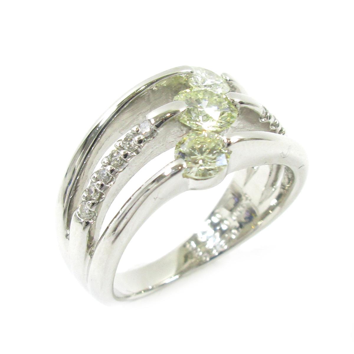 【中古】 ジュエリー ダイヤモンドリング 指輪 レディース PT900 プラチナ X ダイヤモンド0.229ct 0.423ct シルバー クリアー | JEWELRY BRANDOFF ブランドオフ アクセサリー リング