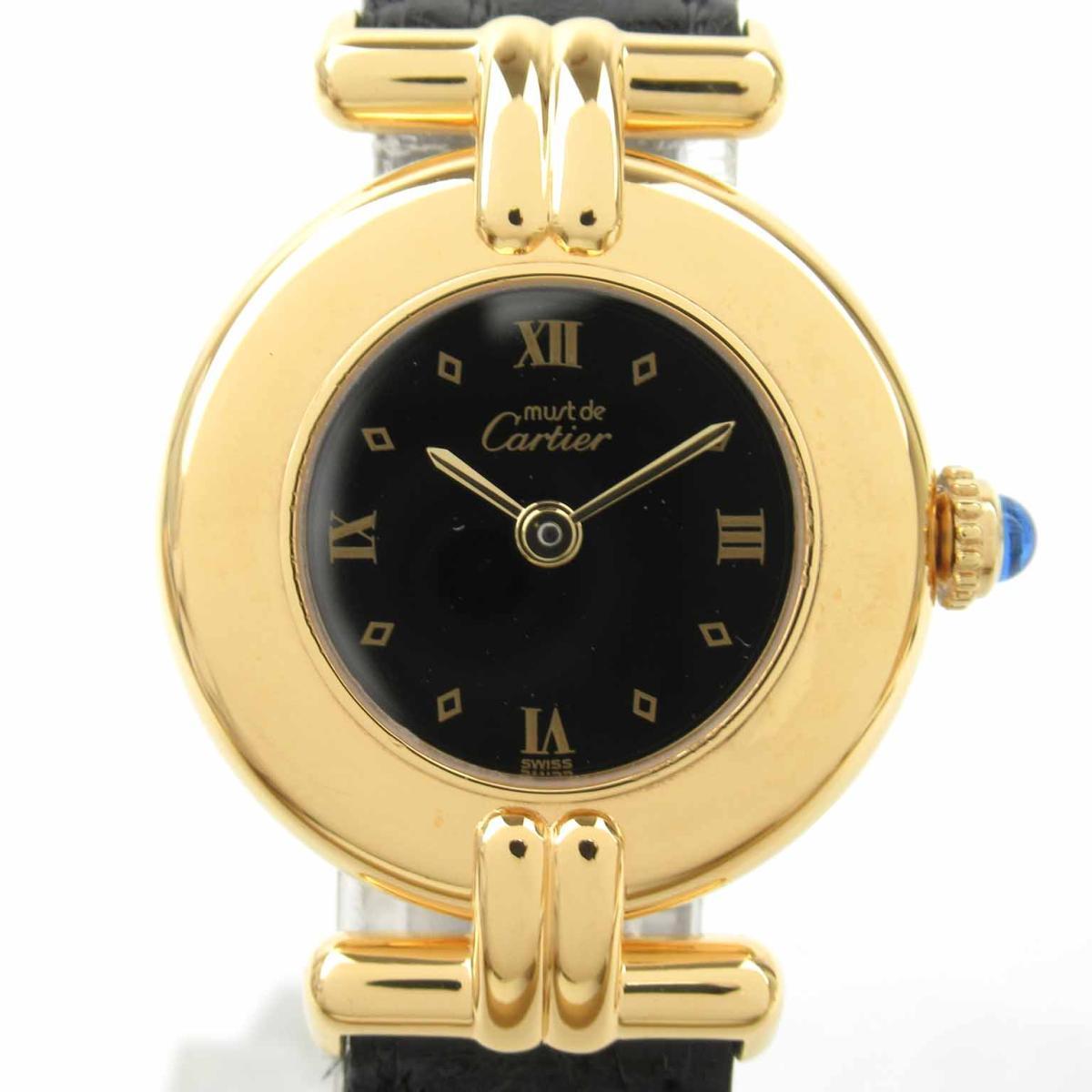 【中古】 カルティエ マストコリゼ ウォッチ 腕時計 レディース SV レザーベルト (590002) | Cartier BRANDOFF ブランドオフ ブランド ブランド時計 ブランド腕時計 時計
