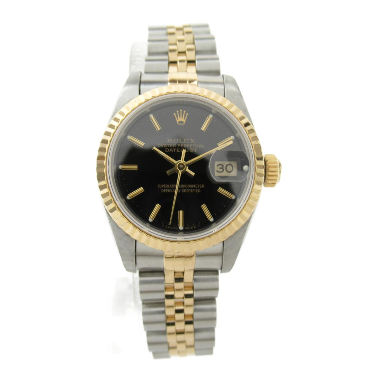 【中古】 ロレックス デイトジャスト ウォッチ 腕時計 レディース K18YG (750) イエローゴールド ステンレススチール (SS) (69173 X番) | ROLEX BRANDOFF ブランドオフ ブランド ブランド時計 ブランド腕時計 時計