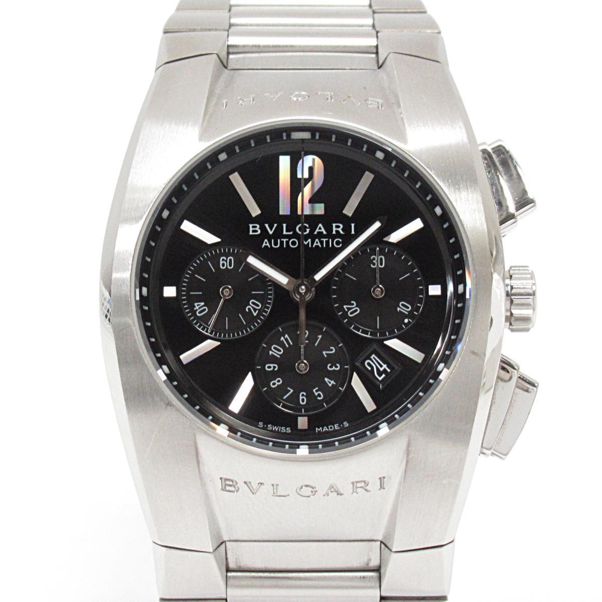 【中古】 ブルガリ エルゴン クロノグラフ 腕時計 ウォッチ メンズ レディース ステンレススチール (SS) (EG35SCH) | BVLGARI BRANDOFF ブランドオフ ボーイズ ブランド ブランド時計 ブランド腕時計 時計