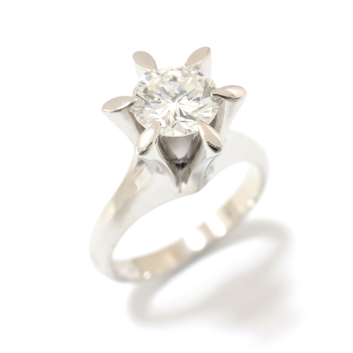 【中古】 ジュエリー ダイヤモンド リング 指輪 レディース PT900 プラチナ x (0.815ct) クリアー シルバー | JEWELRY BRANDOFF ブランドオフ アクセサリー