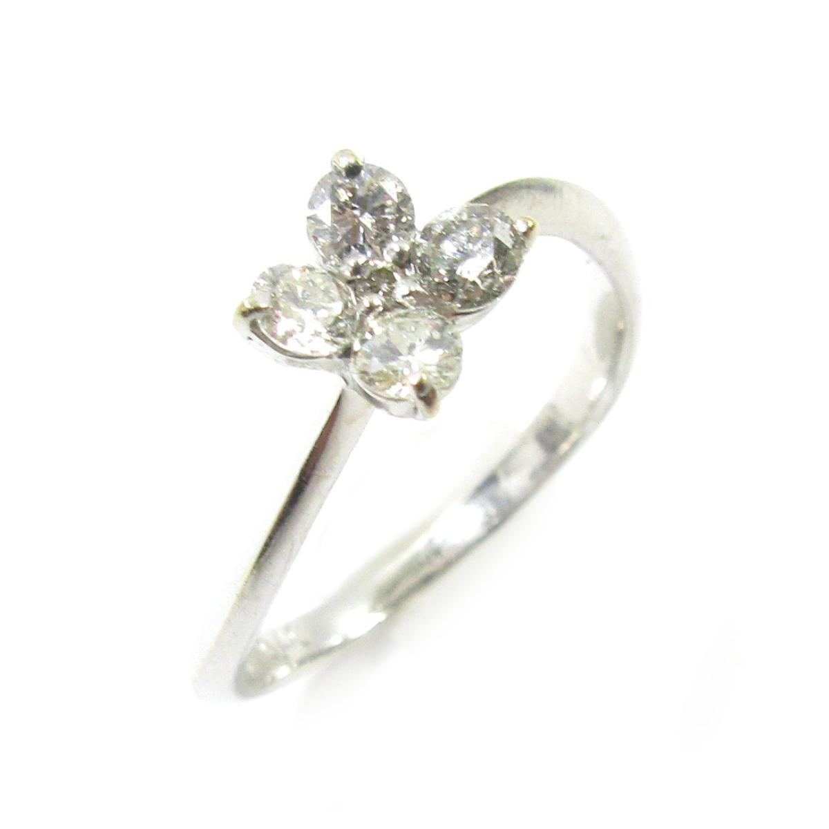【中古】 ジュエリー ダイヤモンドリング 指輪 レディース K18WG (750) ホワイトゴールド x ダイヤモンド0.40ct シルバー クリアー | JEWELRY BRANDOFF ブランドオフ ブランド アクセサリー リング