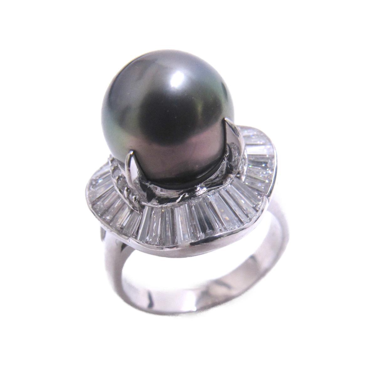 【中古】 ジュエリー パールリング 指輪 レディース PT900 プラチナ x パール ダイヤモンド (1.77ct) シルバー | JEWELRY BRANDOFF ブランドオフ ブランド アクセサリー リング
