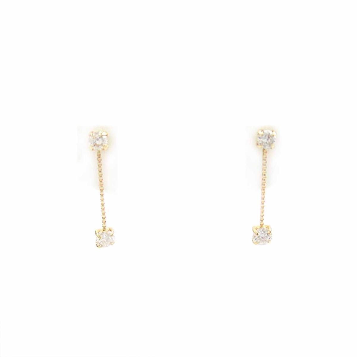 【中古】 ジュエリー ダイヤモンド ピアス レディース 18Kイエローゴールド x (0.10 0.10ct) | JEWELRY BRANDOFF ブランドオフ ブランド アクセサリー