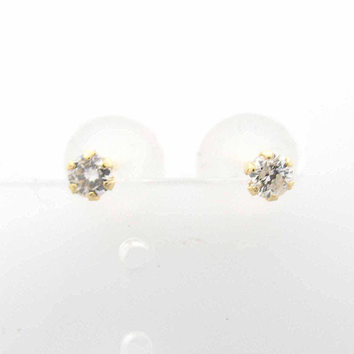 【中古】 ジュエリー ダイヤモンド ピアス レディース 18Kイエローゴールド x ダイヤモンド0.10ct | JEWELRY BRANDOFF ブランドオフ ブランド アクセサリー