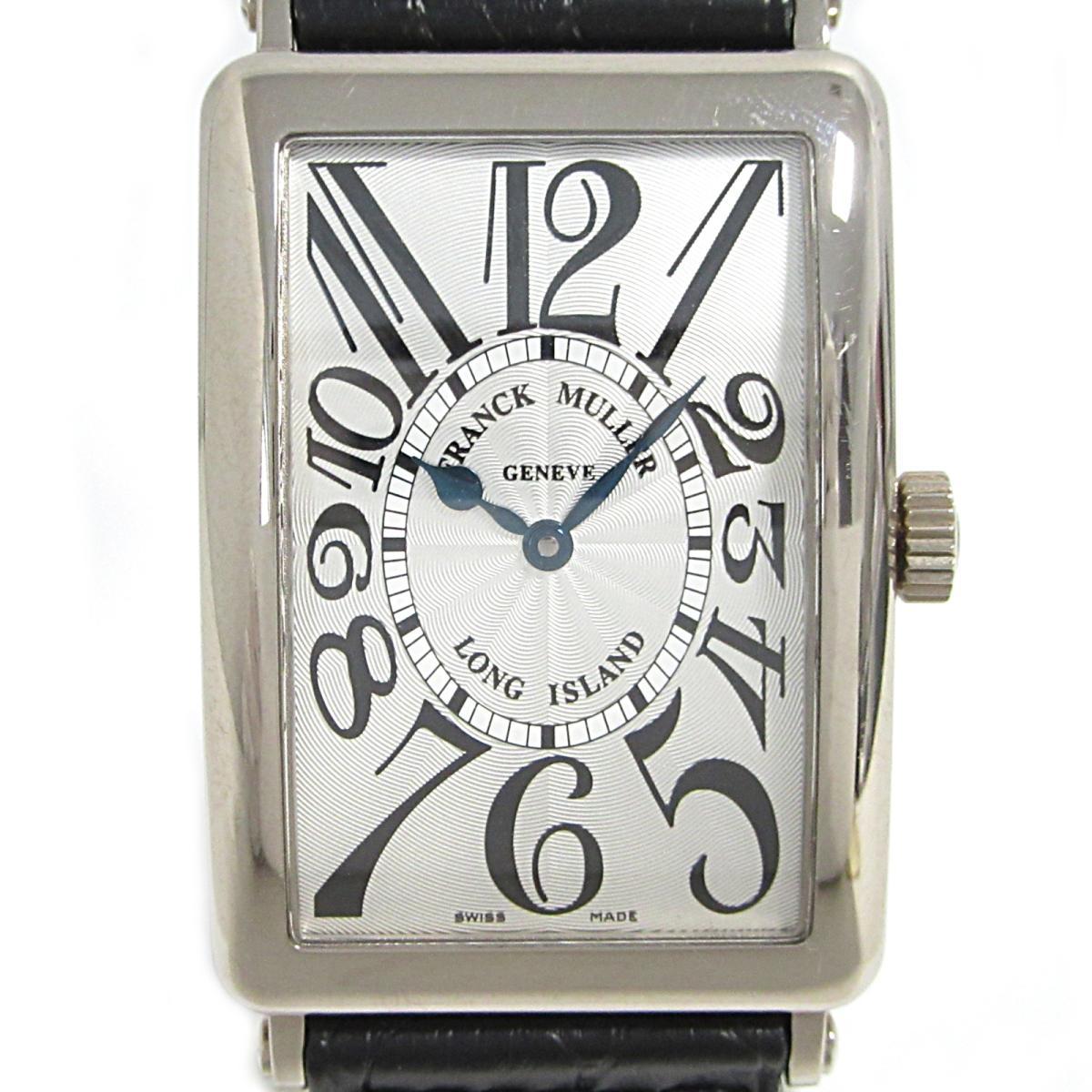 【中古】 フランク・ミュラー ロングアイランド 腕時計 ウォッチ メンズ K18WG (750)ホワイトゴールド クロコレザーベルト (1000SC)   FRANCK MULLER BRANDOFF ブランドオフ ブランド ブランド時計 ブランド腕時計 時計